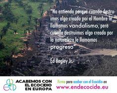 Acabemos con la destrucción masiva de ecosistemas  www.endecocide.eu  #EndEcocide