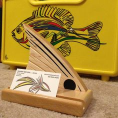 Tailing Redfish Business Card Holder Fly Fishing by SBIXELArt