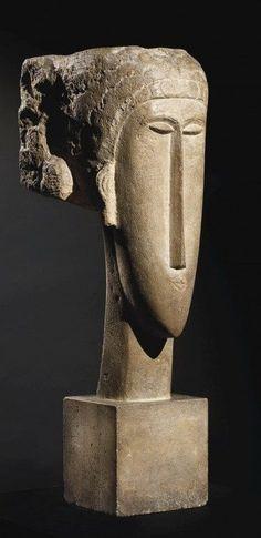 Modigliani (1884-1920) , Mayan mask
