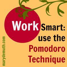 The Pomodoro Technique + Me = Productivity - Mary DeMuth