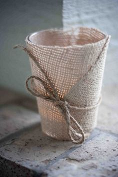 Love the Burlap and Twine!
