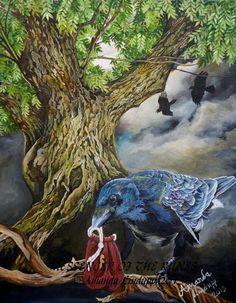 A4 « Messager des Runes » Print monté