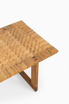 Børge Mogensen bench in oak and woven cane at Studio Schalling