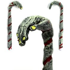 Its not every day that a tasty thing like a candy cane merges with something much less tasty, but just as awesome, like a zombie. But thats the case with this handcrafted Zombie Candy Cane Christmas Ornament. Designed by the creative team that brought u Halloween Ornaments, Halloween Trees, Halloween Home Decor, Halloween House, Halloween Crafts, Halloween Decorations, Christmas Crafts, Christmas Ornaments, Christmas Candy