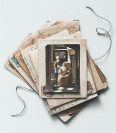 Letters. American artist hyperrealist Patrick Kramer