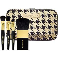 New Year's Beauty: SEPHORA COLLECTION Houndstooth Mini Brush Set #NewYears #NYE #2013 #Sephora