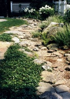 instruction how to create a river rock garden