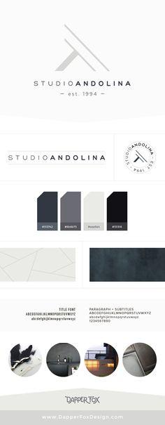 Logo Design options for StudioAndolina by Dapper Fox - Modern Logo Design…