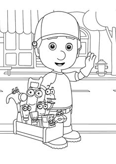 Handy Manny coloring pages for kids printable free