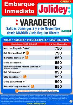 Embarque Inmediato a Varadero desde 750€. Salidas Domingo 2 y 9 desde Mad con EVELOP! ultimo minuto - http://zocotours.com/embarque-inmediato-a-varadero-desde-750e-salidas-domingo-2-y-9-desde-mad-con-evelop-ultimo-minuto/