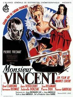 Monsieur Vincent Les Miserables, Grand Prix, Michel Bouquet, Jean Anouilh, Films Étrangers, Oscar Films, Festival Cinema, The Great Escape, Classic Films