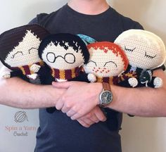 Mesmerizing Crochet an Amigurumi Rabbit Ideas. Lovely Crochet an Amigurumi Rabbit Ideas. Harry Potter Free, Harry Potter Crochet, Theme Harry Potter, Easy Crochet Projects, Crochet Crafts, Crochet Dolls, Crochet Yarn, Crochet Birds, Crochet Food