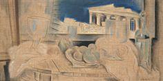 Κωνσταντίνος Παρθένης, Νεκρή φύση και Ακρόπολη, 1931.