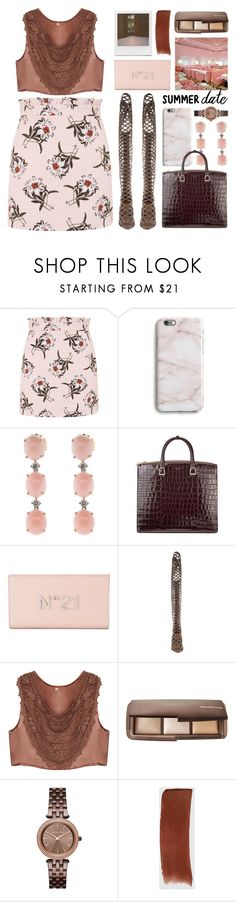 """don't be late"" by foundlostme on Polyvore featuring Topshop, Harper & Blake, Irene Neuwirth, Impossible Project, Aspinal of London, N°21, Hourglass Cosmetics, Michael Kors, Gucci and summerdatenight"