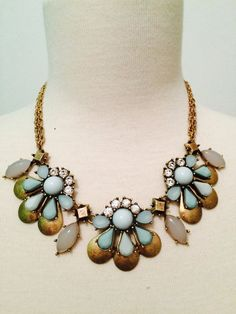J Crew Inspired Mint Statement Necklace by BellaHarperBoutique