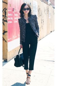 Good idea for a spring work outfit- love the jacket