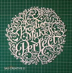 Samantha's Papercuts: Practice Makes Perfect Papercutting Tutorial