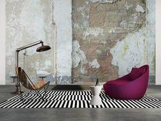 Tapeten Im Wohnzimmer; Livingwalls Fototapete 036760 #industrial ... Fototapete Wohnzimmer Braun