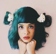 Melanie Martinez, black and blue.
