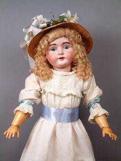 """Красивая 32"""" Кестнер 164 Антикварная фарфоровая кукла с золотистыми от kathylibratysantiques на Руби Лейн"""