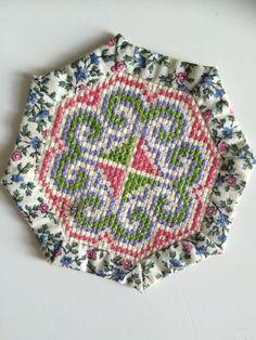 Coaster // Paj Ntaub // Hmong Collectible by HmongTextilesByHeur