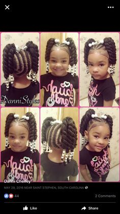 fun hairstyles holiday hairstyles ponytail hairstyles hairstyles for kids to do braids for kids hairstyles for kids hairstyles for girls kids kids hairstyles for girls easy kid hairstyles for girls hairstyles kids hairstyles Little Girl Braid Styles, Kid Braid Styles, Little Girl Braids, Black Girl Braids, Girl Short Hair, Kid Styles, Lil Girl Hairstyles, Black Kids Hairstyles, Girls Natural Hairstyles