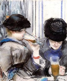 Édouard Manet -  Woman drinking Beer, 1878