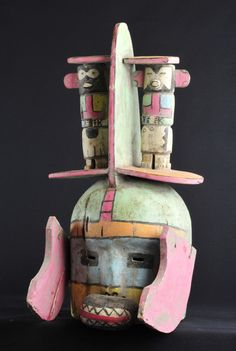 Superb Hopi Indian Mask Katsina Kachina Native American Indian Masque Masker | eBay