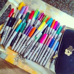 Sharpie Colors, Sharpies, Favorite Things, Markers, Sharpie