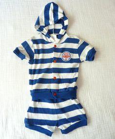 Vintage Little Slugger baseball baby shirt and short set from LazerBaby Vintage, $14.00