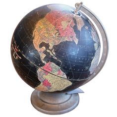 "1stdibs - Repogle12"" Deep Black Globe explore items from 1,700  global dealers at 1stdibs.com"
