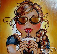 Risultati immagini per isabelle desrochers peinture Princesa Pin Up, Plus Size Art, Isabelle, 5d Diamond Painting, Diamond Art, Drawing Skills, Easy Paintings, Art And Illustration, Illustrations