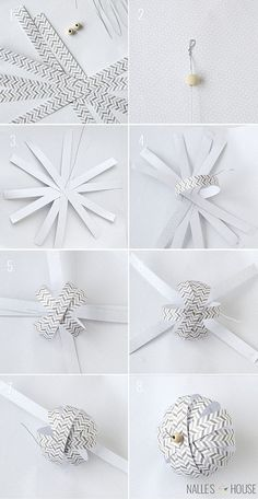 Instructions for DIY Paper Ball Ornaments | handmade ornament no. 11 - bystephanielynn