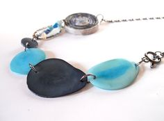 Sustainable Tagua Eco Chic Neckace Statement Unique Jewelry by imwyred