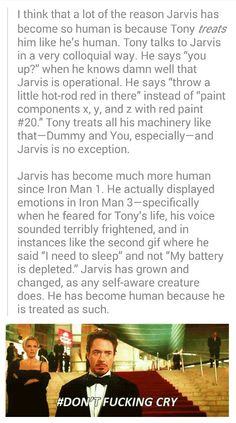 Jarvis is the silent hero in Marvel. <-- I have to disagree. Like Tony, Jarvis is rarely silent. ;)