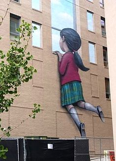 "Street art by Seth Globepainter. - ""Street Art can be the b . – ""Street Art kann die Beleuchtung dunkler … Street art by Seth Globepainter. – ""Street Art can make the lighting darker … – Karla Mitchell – - 3d Street Art, Street Art Graffiti, Graffiti Kunst, Graffiti Wall Art, Banksy Graffiti, Murals Street Art, Urban Street Art, Amazing Street Art, Street Artists"