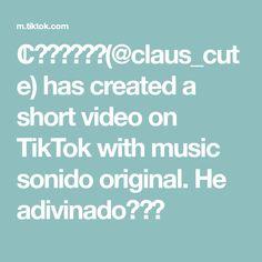ℂ𝕝𝕒𝕦𝕤💚🐶(@claus_cute) has created a short video on TikTok with music sonido original. He adivinado?😋😌 A Thousand Years, The Originals, Tik Tok, Create, Music, Anime, Thousand Years, Musica, Musik