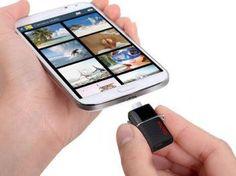 "Pendrive para Smartphone e Tablet 64GB SanDisk - Ultra"" Dual Drive USB 3.0"