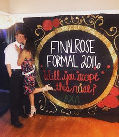 Training him for every picture taken at formal. TSM.