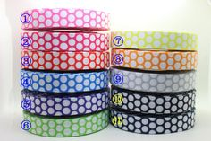 New 7/8'' Free Shipping polka dots 11 colors available Printed Grosgrain Ribbon Hairbow Diy Party Decoration Wholesale OEM 22mm -in Ribbons from Apparel & Accessories on Aliexpress.com