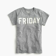 "J.Crew+-+Boys'+""Friday""+T-shirt+in+the+softest+jersey"