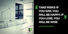 Take risks #scitechspiration