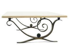 Aegean Coffee Table - Solid natural bronze with limestone top. Dimensions: h530 w1200 d1200 Finishes: Natural Bronze, Limestone