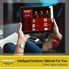 Get a Customized Tablet Menu in Minutes! Know More Here: www.imenucards.in  #imenu #tabletmenu #digitalmenu