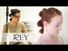 Star Wars Hair Tutorial - Rey - YouTube