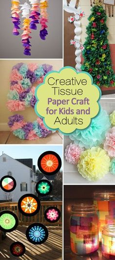 Creative Tissue Paper Crafts for Kids and Adults!