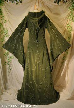 Alternative Clothing - Haunted Hawtin Coat Long Floor-length Gothic Goth Faery Faerie Fairy Fae Pixie Alienskin Technodolly - Alienskin Clot...