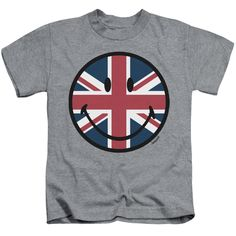 """Checkout our #LicensedGear products FREE SHIPPING + 10% OFF Coupon Code """"Official"""" Smiley World / Union Jack Face-short Sleeve Juvenile 18 / 1-athletic Heather-sm(4) - Smiley World / Union Jack Face-short Sleeve Juvenile 18 / 1-athletic Heather-sm(4) - Price: $24.99. Buy now at https://officiallylicensedgear.com/smiley-world-union-jack-face-short-sleeve-juvenile-18-1-athletic-heather-sm-4"""