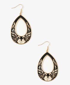 Lacquered Vine Teardrop Earrings | FOREVER21 - 1000048236
