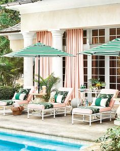 Looking for the new Auto Tilt Patio Umbrella? Shop Ballard online today to find the newest trends in outdoor living & entertaining style! Outdoor Rooms, Outdoor Living, Outdoor Decor, Outdoor Lounge, Pool Furniture, Outdoor Furniture Sets, Furniture Styles, Metal Furniture, Quality Furniture